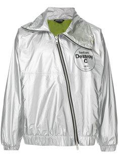 легкая куртка с диагональной застежкой-молнией Sankuanz