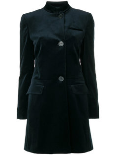 бархатное пальто миди Piazza Sempione