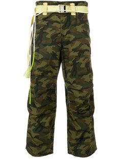 брюки с камуфляжным принтом Sankuanz