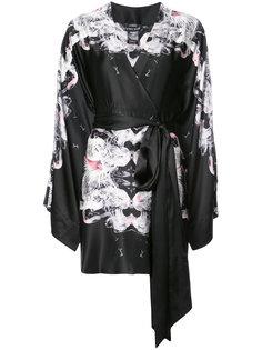 floral kimono-style dress Thomas Wylde