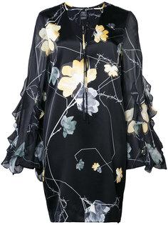 мини-платье с принтом орхидей Thomas Wylde