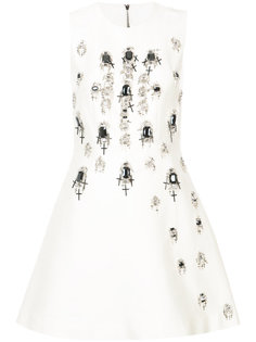 платье декорированное кристаллами Thomas Wylde