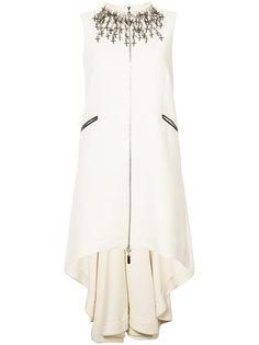 платье с крестообразным украшением и неравномерным подолом Thomas Wylde