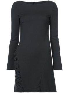 приталенное платье с рюшами Thomas Wylde