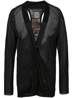 прозрачная блузка Thomas Wylde