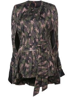 пальто с камуфляжным принтом Thomas Wylde