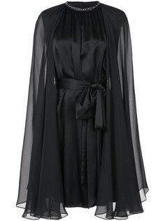 платье с поясом и рукавами-кап Thomas Wylde