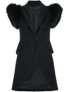 пиджак с меховой отделкой Xena Thomas Wylde