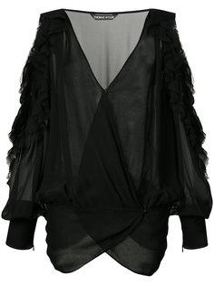 блузка с вырезами на плечах Barron  Thomas Wylde