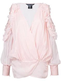 блузка с открытыми плечами и рюшами Thomas Wylde