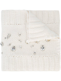 шарф декорированный кристаллами Roadhouse  Thomas Wylde