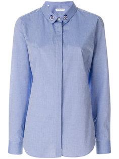 рубашка с цветочной вышивкой Maison Labiche