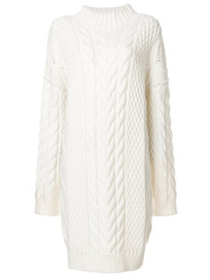 декорированное платье вязки с косичками Karl Lagerfeld