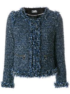 пиджак букле с бахромой Karl Lagerfeld