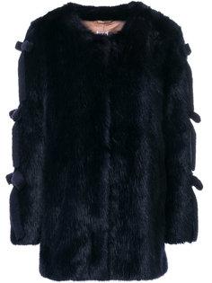 пальто из искусственного меха с бантами Shrimps
