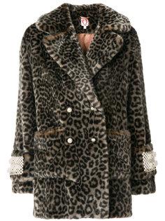 декорированное пальто с леопардовым узором Shrimps