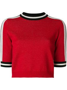укороченный свитер с логотипом MSGM