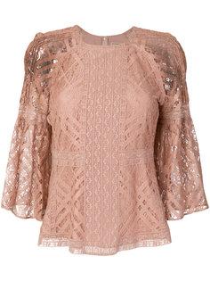 кружевная блузка с расклешенными рукавами Burberry