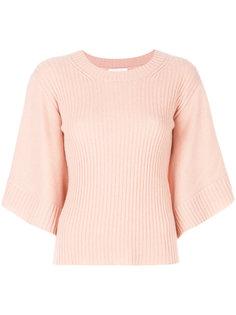 ребристый свитер с расклешенными рукавами Chloé