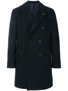двубортное пальто в клетку Gabriele Pasini