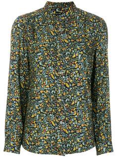 приталенная рубашка с вышивкой A.P.C.