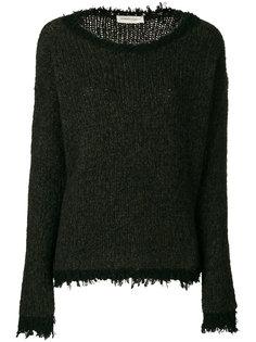 свитер в рубчик с текстурированными краями Lamberto Losani