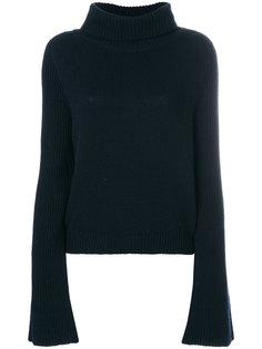 свитер с высокой горловиной в рубчик Lamberto Losani
