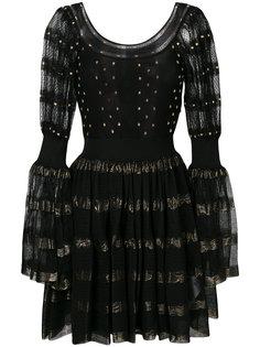 расклешенное платье с вышивкой  Alexander McQueen