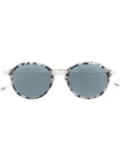 солнцезащитные очки с эффектом черепашьего панциря Thom Browne Eyewear