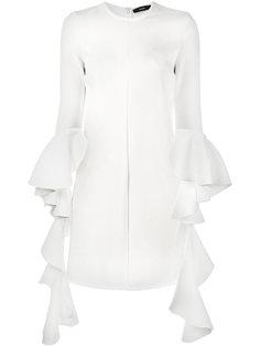 платье с длинными рукавами с воланами Ellery