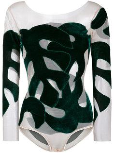 боди с бархатными листьями Alexia Hentsch