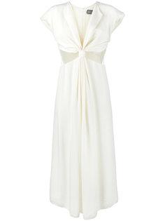 платье с вставками из сетки Kitx