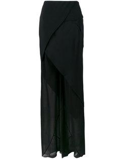 прозрачные брюки с асимметричной юбкой Kitx