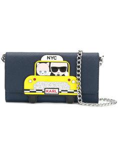 кошелек NYC Taxi на цепочке Karl Lagerfeld