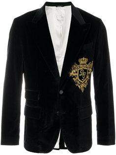 бархатный пиджак с нашивкой Dolce & Gabbana