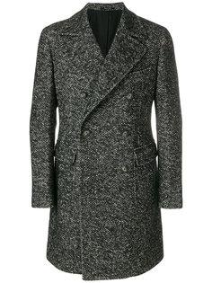 твидовое однобортное пальто  Tagliatore