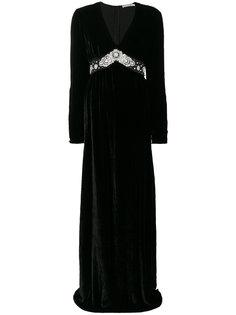 вечернее платье с V-образным вырезом и заклепками Amen Amen.