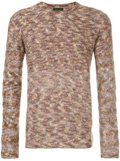 двусторонний свитер мраморной вязки Roberto Collina