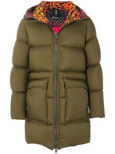 пальто-пуховик с принтом на подкладке Herno