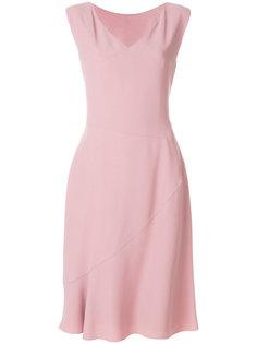 платье миди с V-образным вырезом Alberta Ferretti