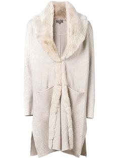 пальто Milano с меховым воротником N.Peal