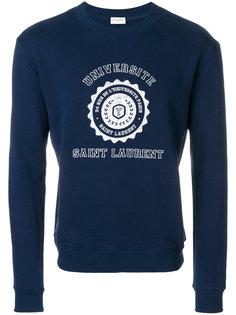 свитер с нашивкой логотипа Saint Laurent