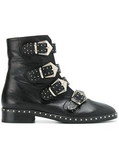 ботинки с ремешками и заклепками Marc Ellis