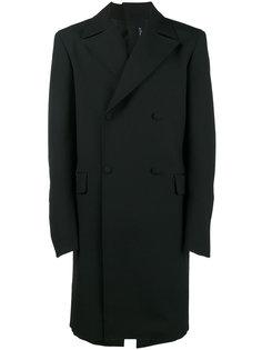 двубортное пальто с пуговицами на спине Y / Project