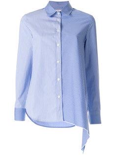 двухцветная полосатая рубашка асимметричного кроя Golden Goose Deluxe Brand