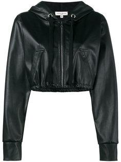 укороченная куртка из искусственной кожи с капюшоном Natasha Zinko