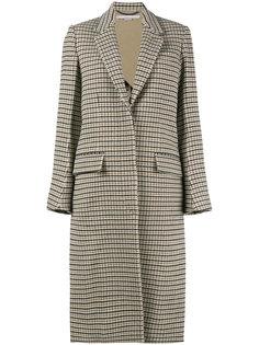 клетчатое пальто свободного кроя Stella McCartney