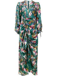 платье-миди Opal с цветочным принтом Preen By Thornton Bregazzi