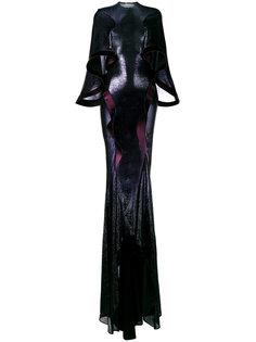 вечернее платье с эффектом металлик Esteban Cortazar