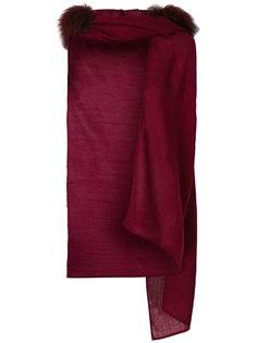 шарф с помпонами из меха енота Charlotte Simone